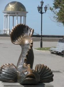 В городе Бердянске памятник «Бычку - кормильцу»